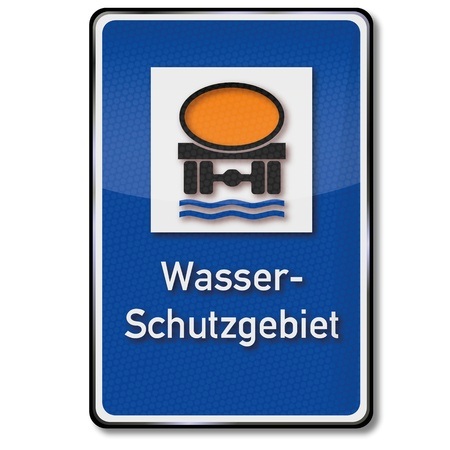 groundwater: Traffic sign water protection area