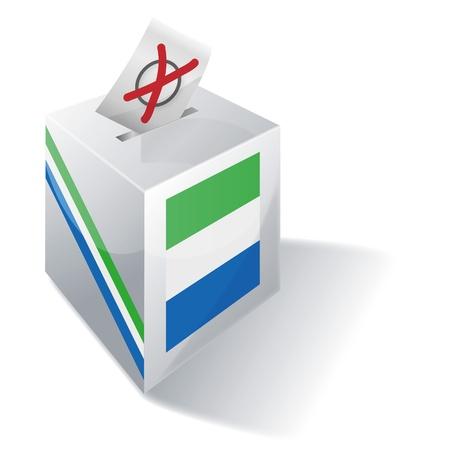 basic law: Ballot box Sierra Leone