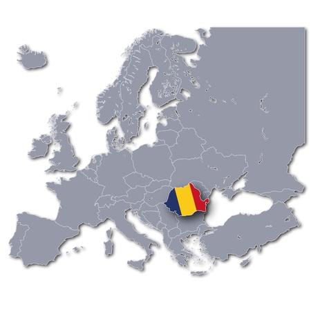 Map Romania