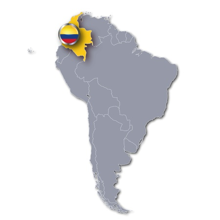 limits: Map Colombia