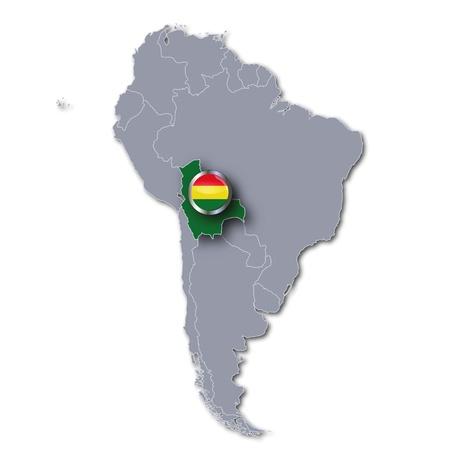 mapa de bolivia: Mapa de Bolivia Foto de archivo