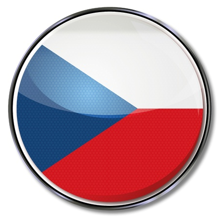 Button Czech Republic Vector