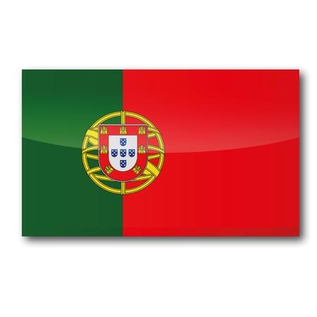 iberian: Flag Czech Portugal Illustration