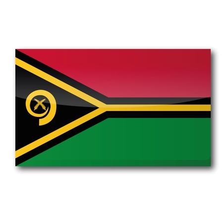 oceania: Flag Vanuatu