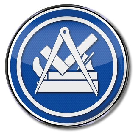 шпон: Гильдия знак плотнику