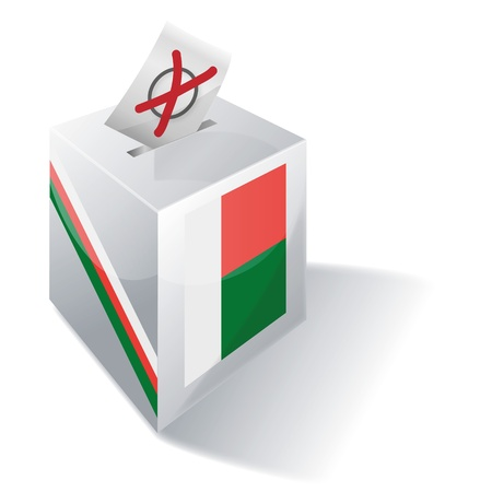 voting rights: Ballot box Belarus Illustration