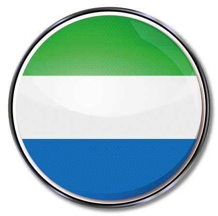 Button Sierra Leone Vector