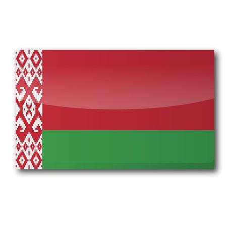 belarus: Flag Belarus Illustration