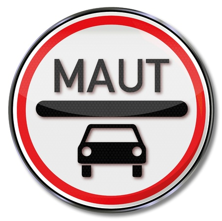 Traffic sign car toll  Vector