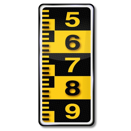 measure height: Sign Water level and measure