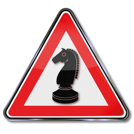 strategically: Sign chess horse Illustration
