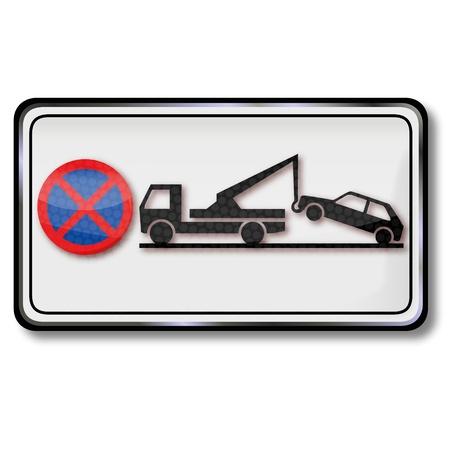 Sign Parking is absolutely prohibited Ilustração