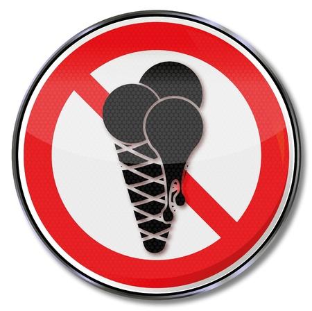 Danger no ice cream in the salesroom Stock Vector - 15538934