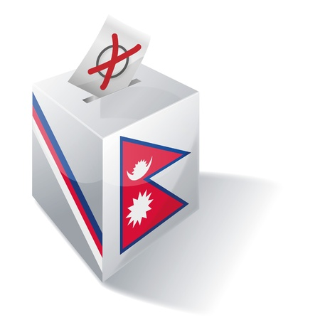landlocked country: Urna electoral Nepal Vectores