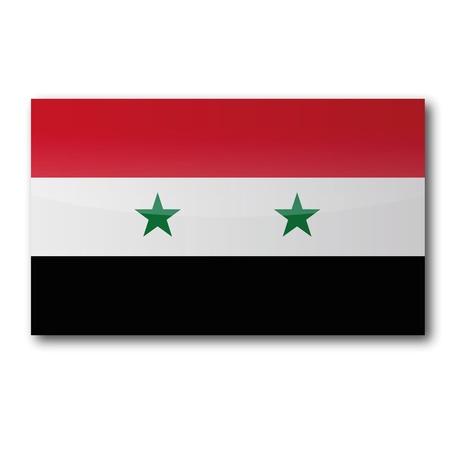 southwest asia: Flag Syria