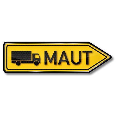 toll: Traffic Sign trucks toll Illustration