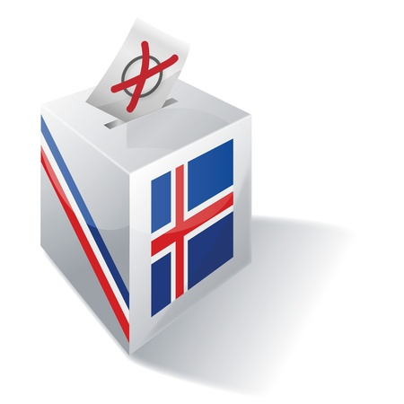 voters: Ballot box Iceland Illustration