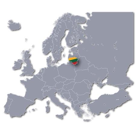 lithuanian: Map Lithuania