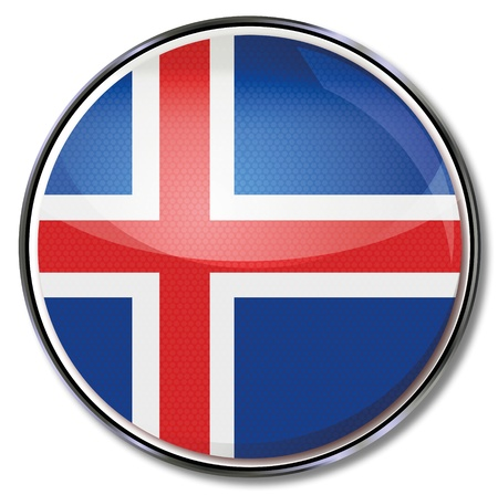 Button Iceland Stock Vector - 15646271