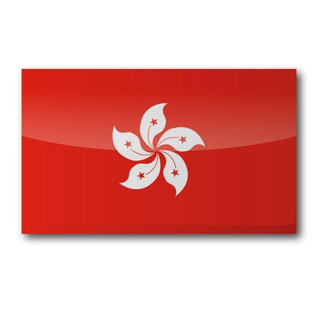 pearl harbor: Flag Hong Kong Illustration