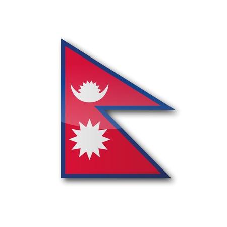 landlocked country: Bandera de Nepal Vectores