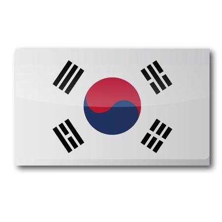 seoul: Drapeau Cor�e du Sud