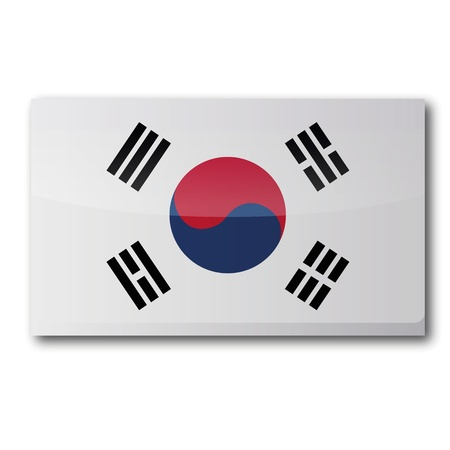 Flag South Korea Vector