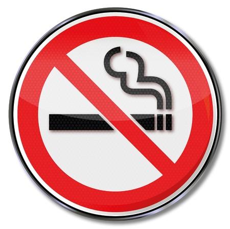 proibido: Cadastre proibição de fumar Ilustração
