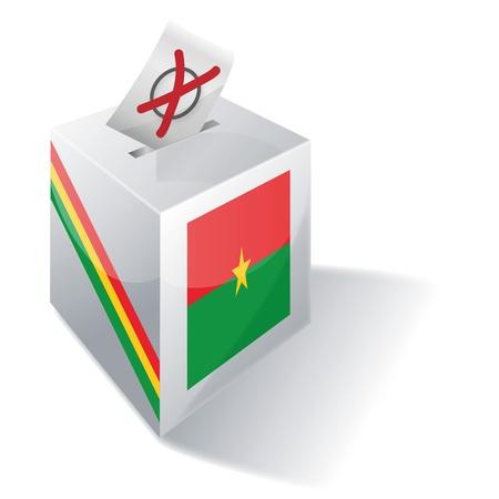 burkina faso: Ballot box Burkina Faso Illustration