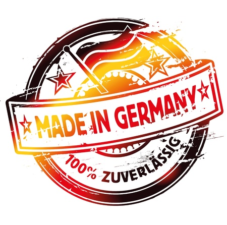 Rubber stamp Made In Germany Vector