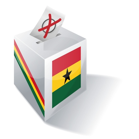 Ballot box Ghana Stock Vector - 15646152