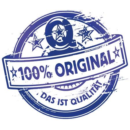 siegel: Rubber stamp hundred percent original