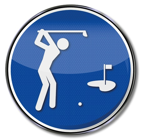 meaning: Reg�strate deportes golf Vectores