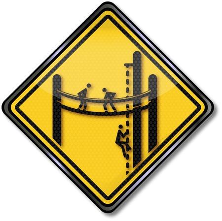 Sign climbing area