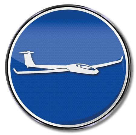 Sign glider aircraft