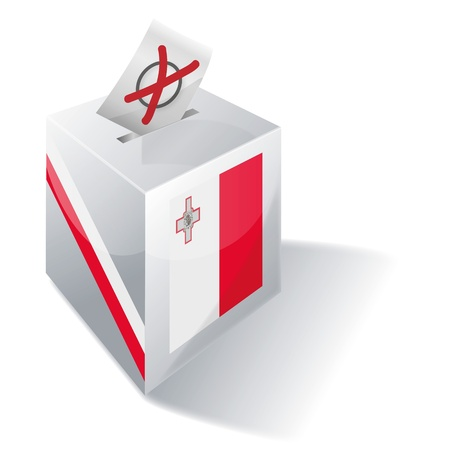 liberal: Ballot box Malta Illustration