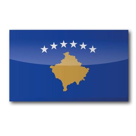 romanesque: Flag Kosovo