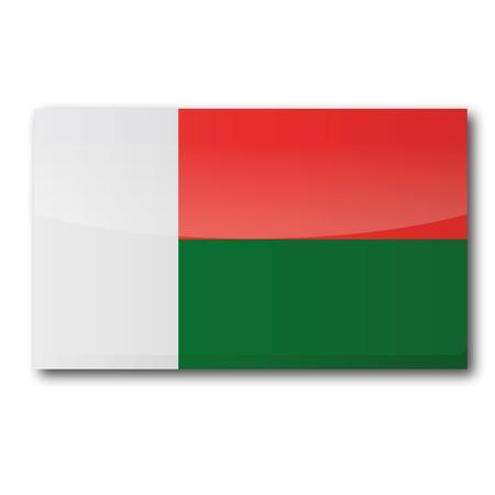 madagascar: Flag Madagascar Illustration