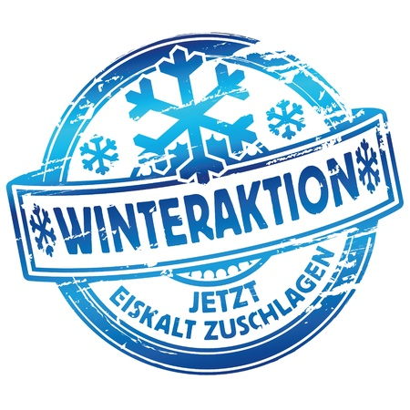 Rubber stamp winter season Vector