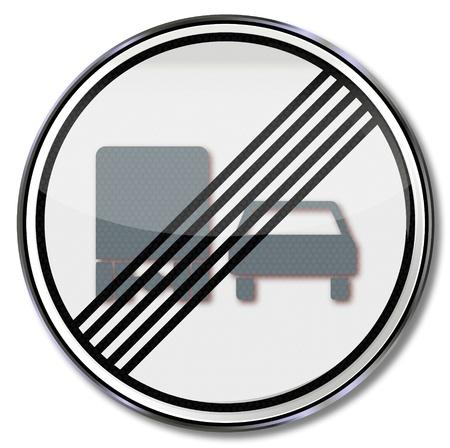 overtaking: Traffic signrepeal overtaking