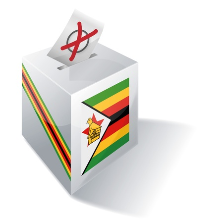 Ballot box Zimbabwe Stock Vector - 15993172