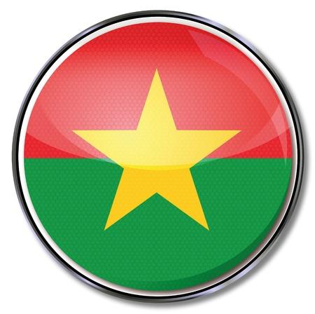burkina faso: Button Burkina Faso Illustration