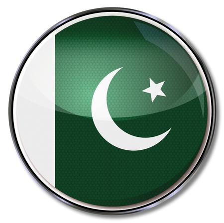 pakistan flag: Button Pakistan