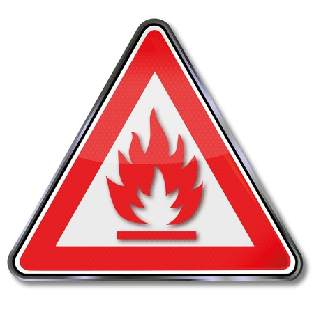 Warning Sign combustible Stock Vector - 15993235