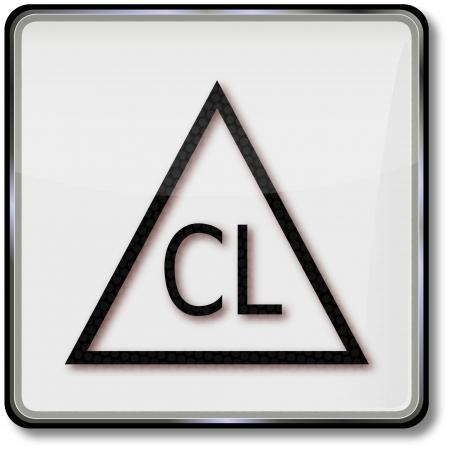 branqueamento: Cuidado T�xtil s�mbolo cloro permitido