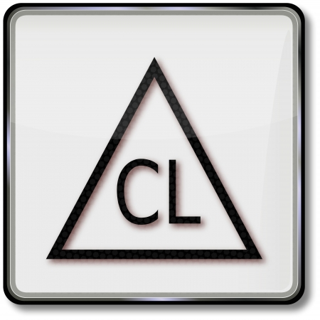 textile care: Textil s�mbolo cuidado cloro permitido