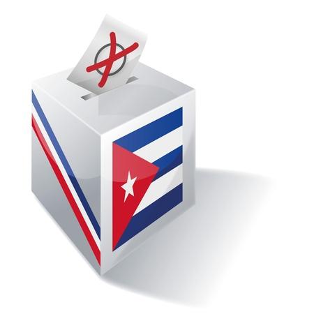 absentee: Ballot box Cuba