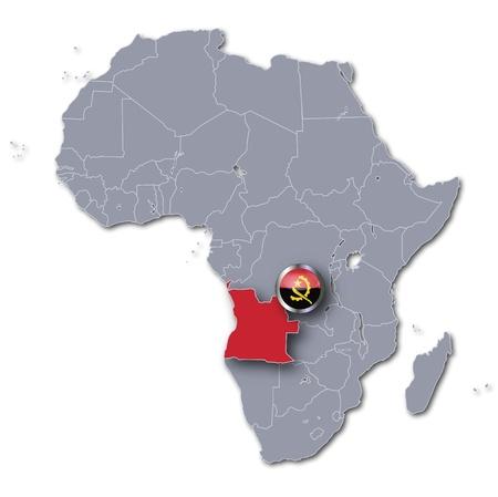 angola: Africa map Angola Stock Photo
