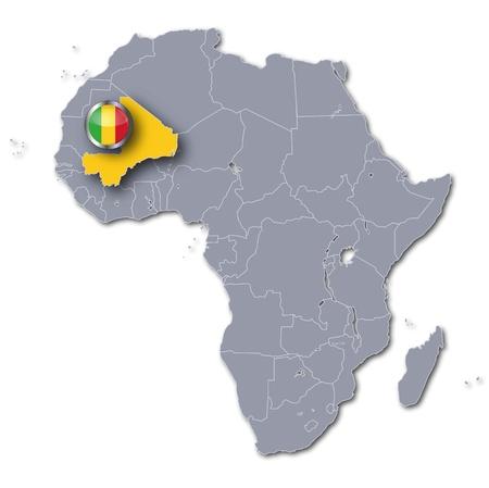 mali: Africa map Mali