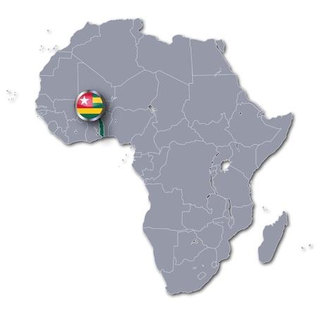 Africa map togo photo